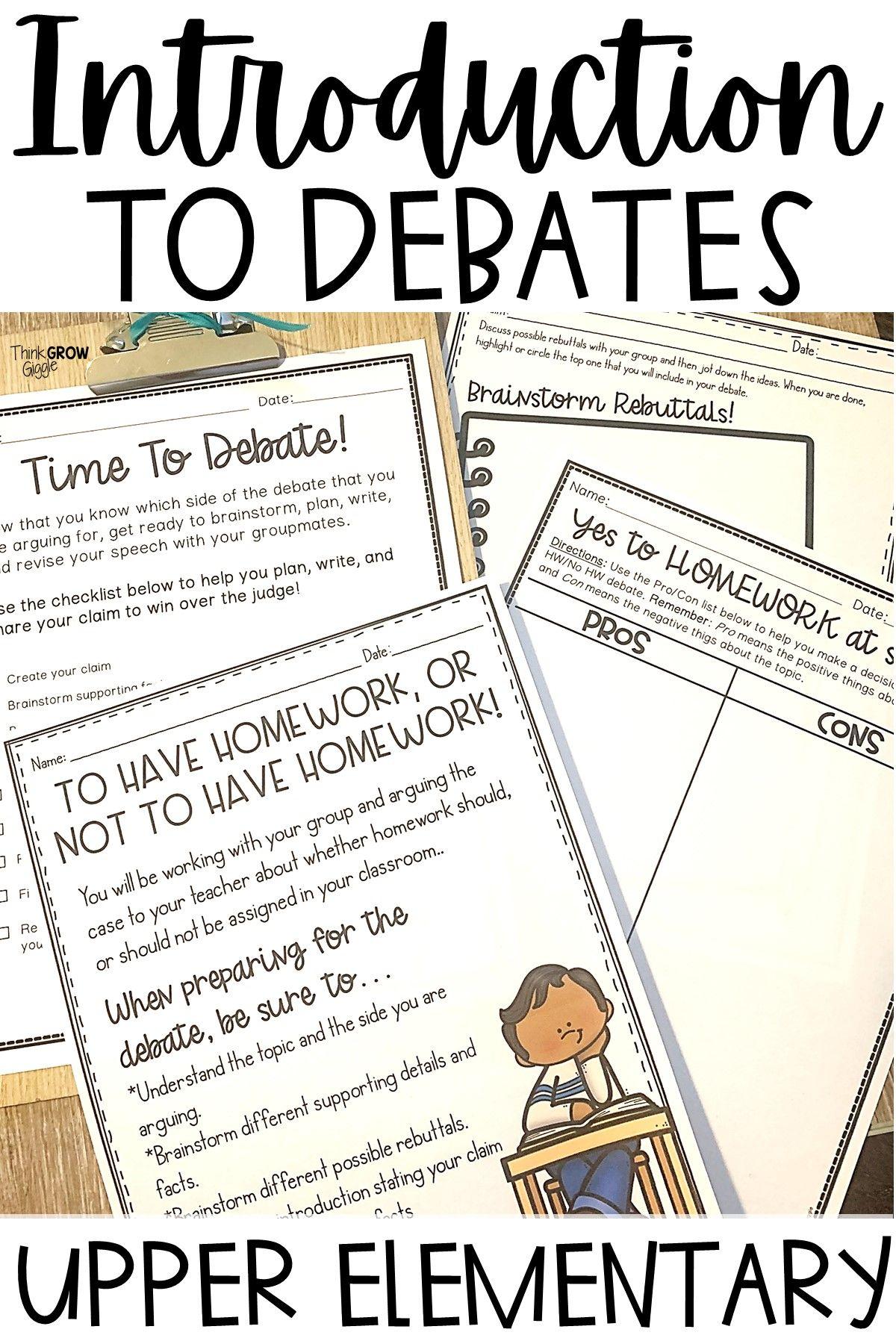 Debate Ideas 3rd Grade