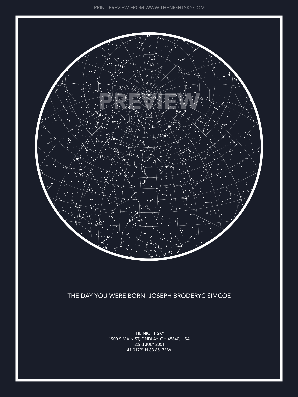 Custom Star Map - Midnight Blue   Gift Ideas   Pinterest
