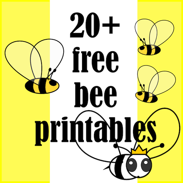 photo relating to Beehive Printable named ☞ 20+ no cost bee themed printables - Bienen Druckvorlagen