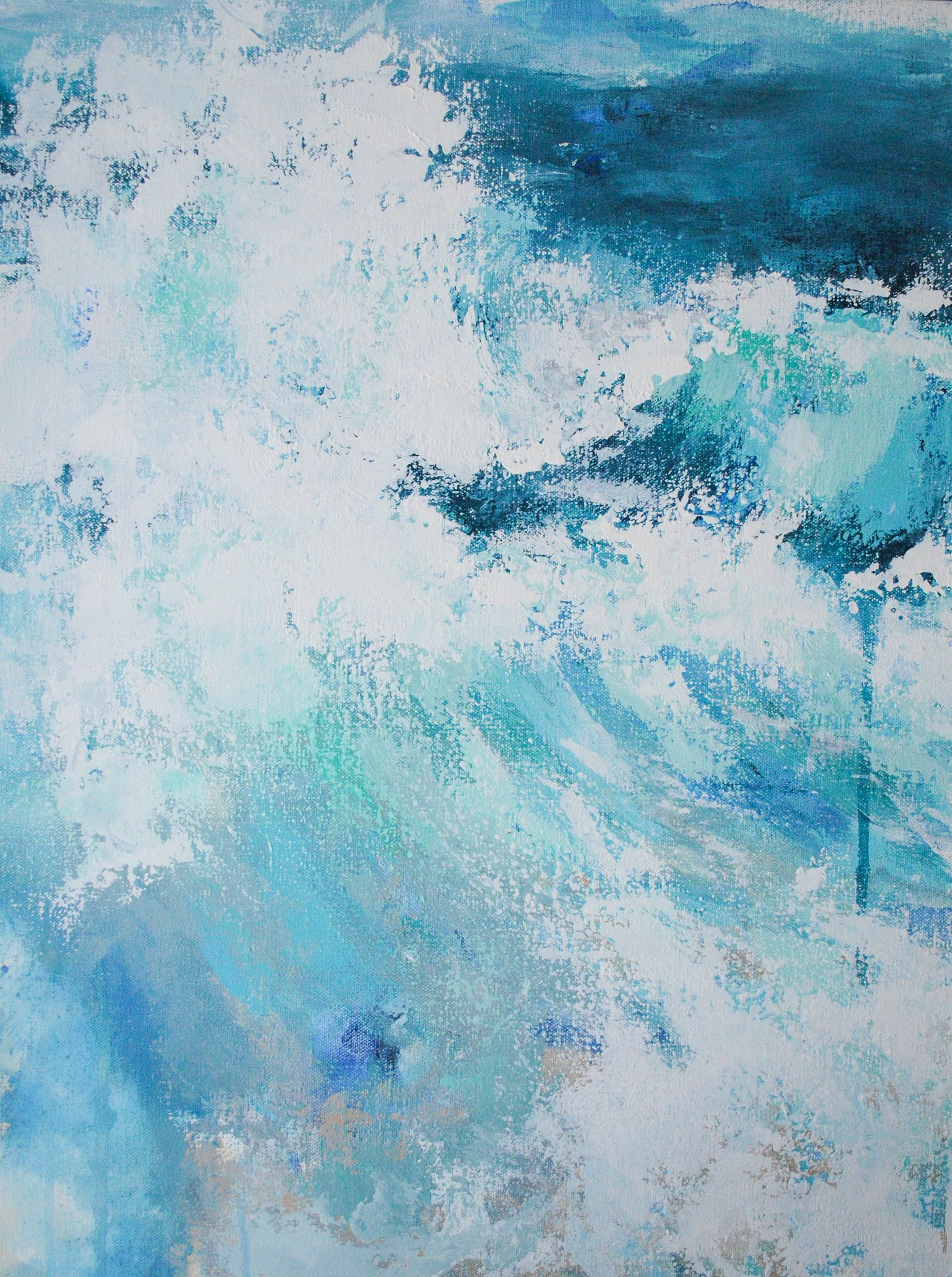 In High Tides Abstract Ocean Painting Abstract Ocean Painting