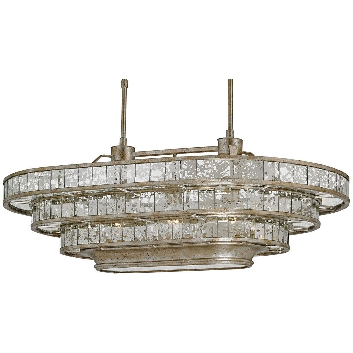 Currey and company frappe silver granello raj mirror oval chandelier aloadofball Gallery