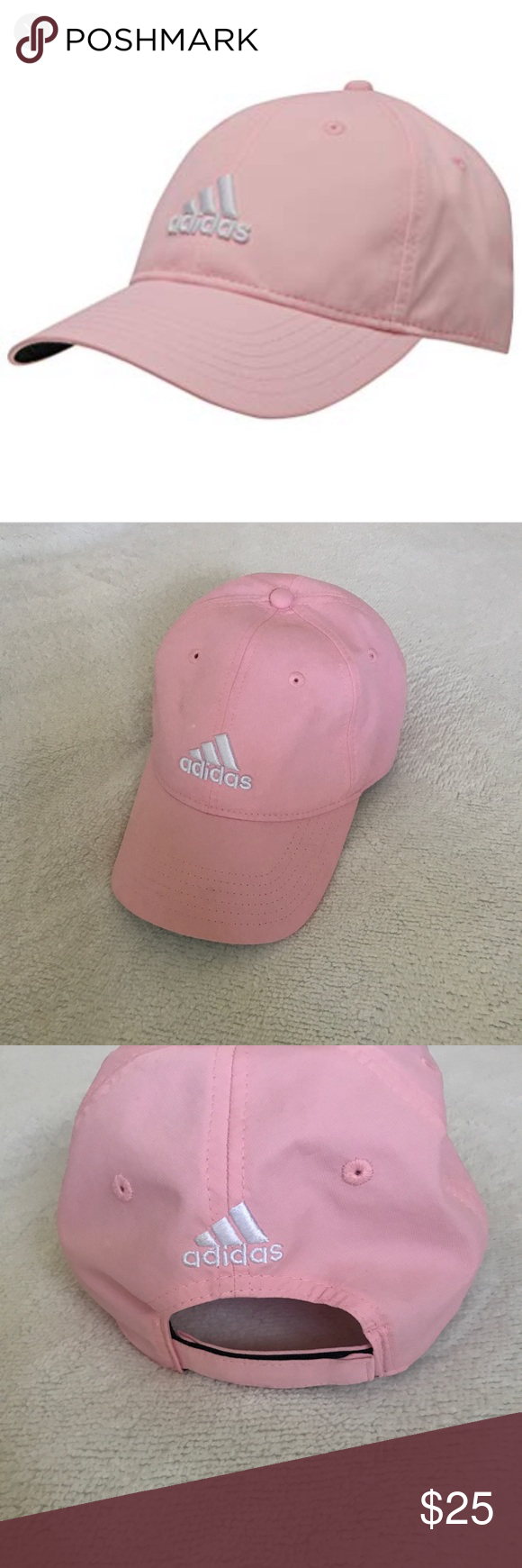 0b176a0669307 NWOT Pink Adidas Hat New without original tags pink hat by Adidas. Style is dad  hat   baseball cap. Velcro back. Same or next day shipping! adidas ...