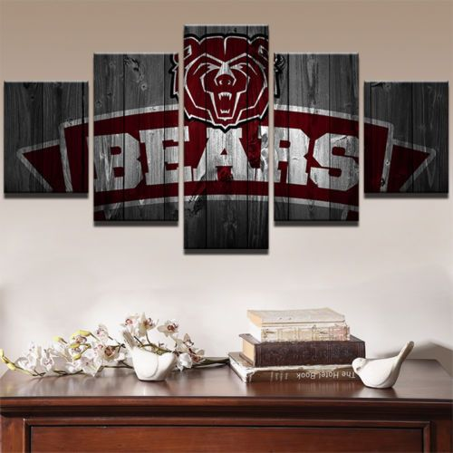 5 Pcs Chicago Bears Football Painting Printed Canvas Wall Art Sport Home  Decor