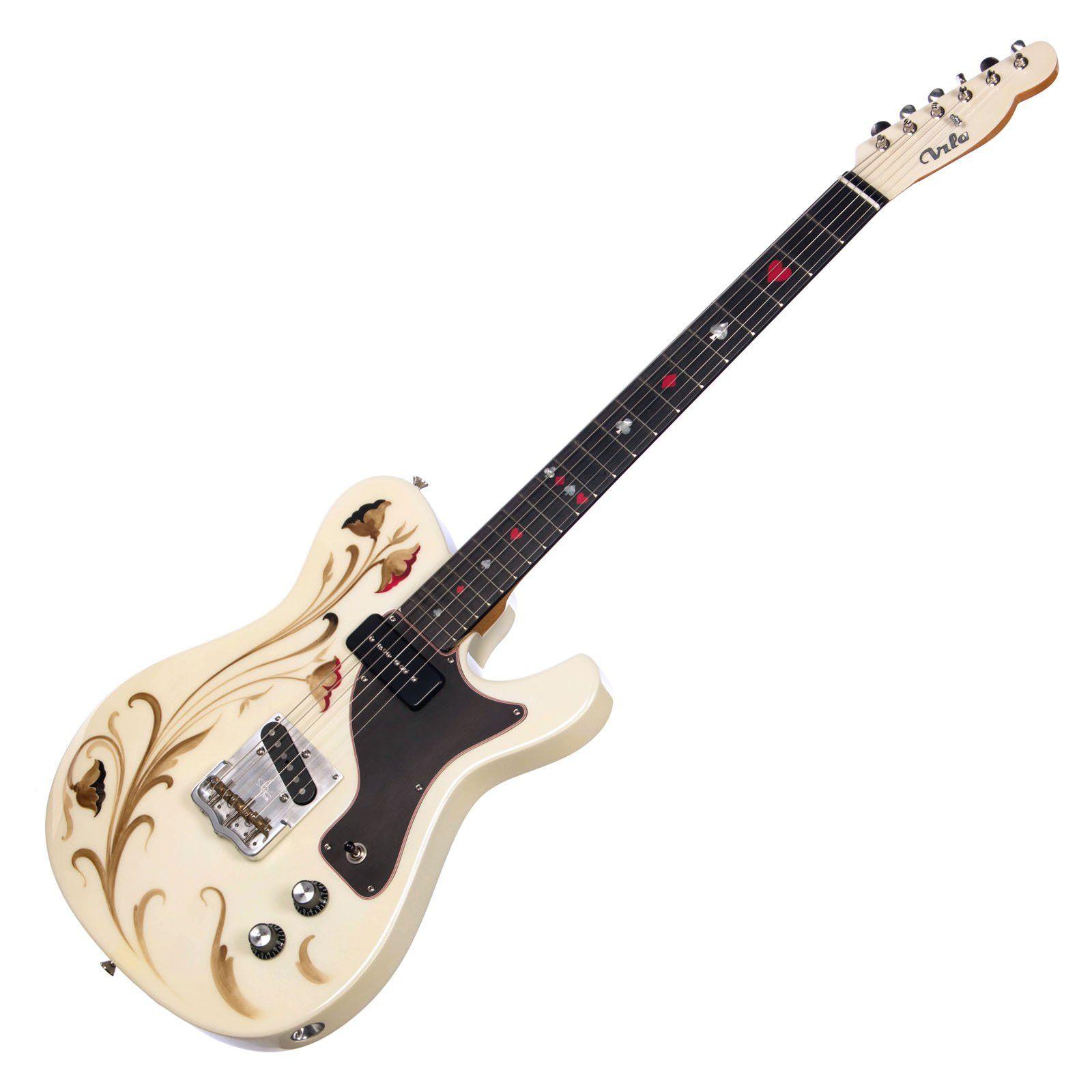 Vila Custom Guitars And Basses Telmo Vintage White Custom Hand