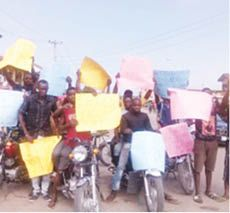 Motorcyclists protest as police deny killing three