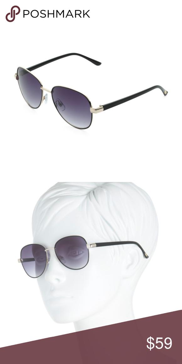 8a5f2ac1ec O By Oscar De La Renta Avaiator Sunglasses O by Oscar de la Renta plastic  metal Gold Black combo sunglasses. Slim metal frame. Gradient lenses.