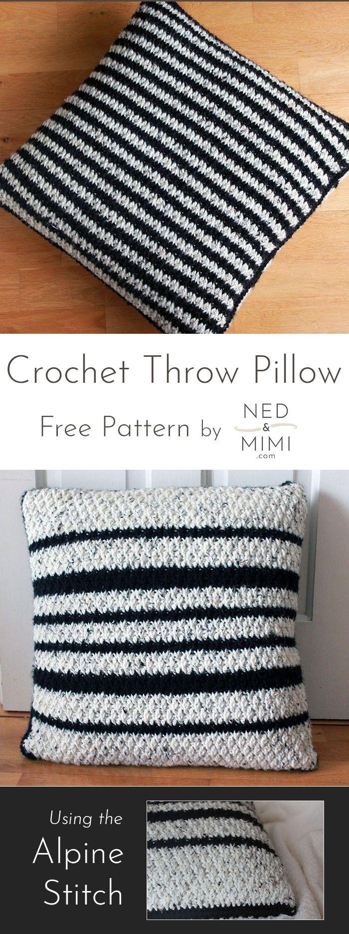 Black White Ned Mimi Crochet Cushion Pattern Crochet Pillow Patterns Free Crochet Pillow Pattern