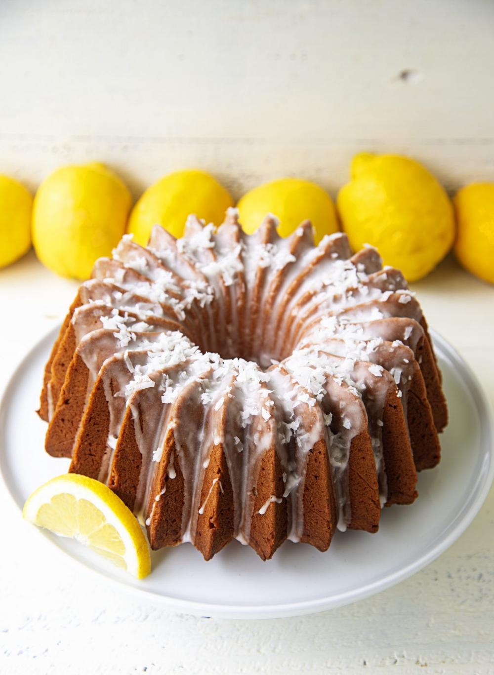 Lemon Coconut Mascarpone Pound Cake in 2020 Dessert