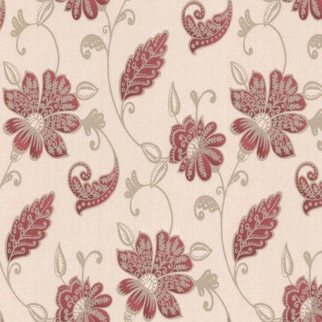 Juliet Wallpaper Red Wallpaper Classic Wallpaper Floral Wallpaper