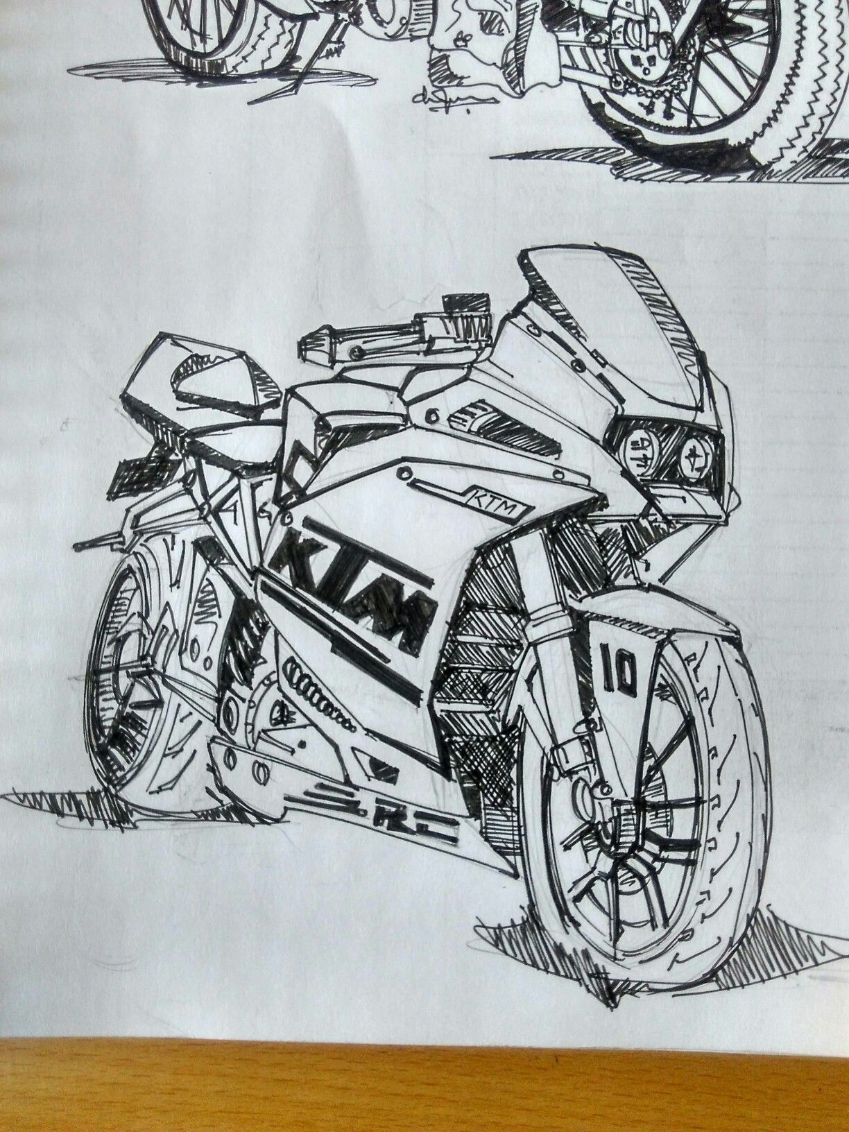 Ktm Rc Car Sketch Ktm Rc Sketches