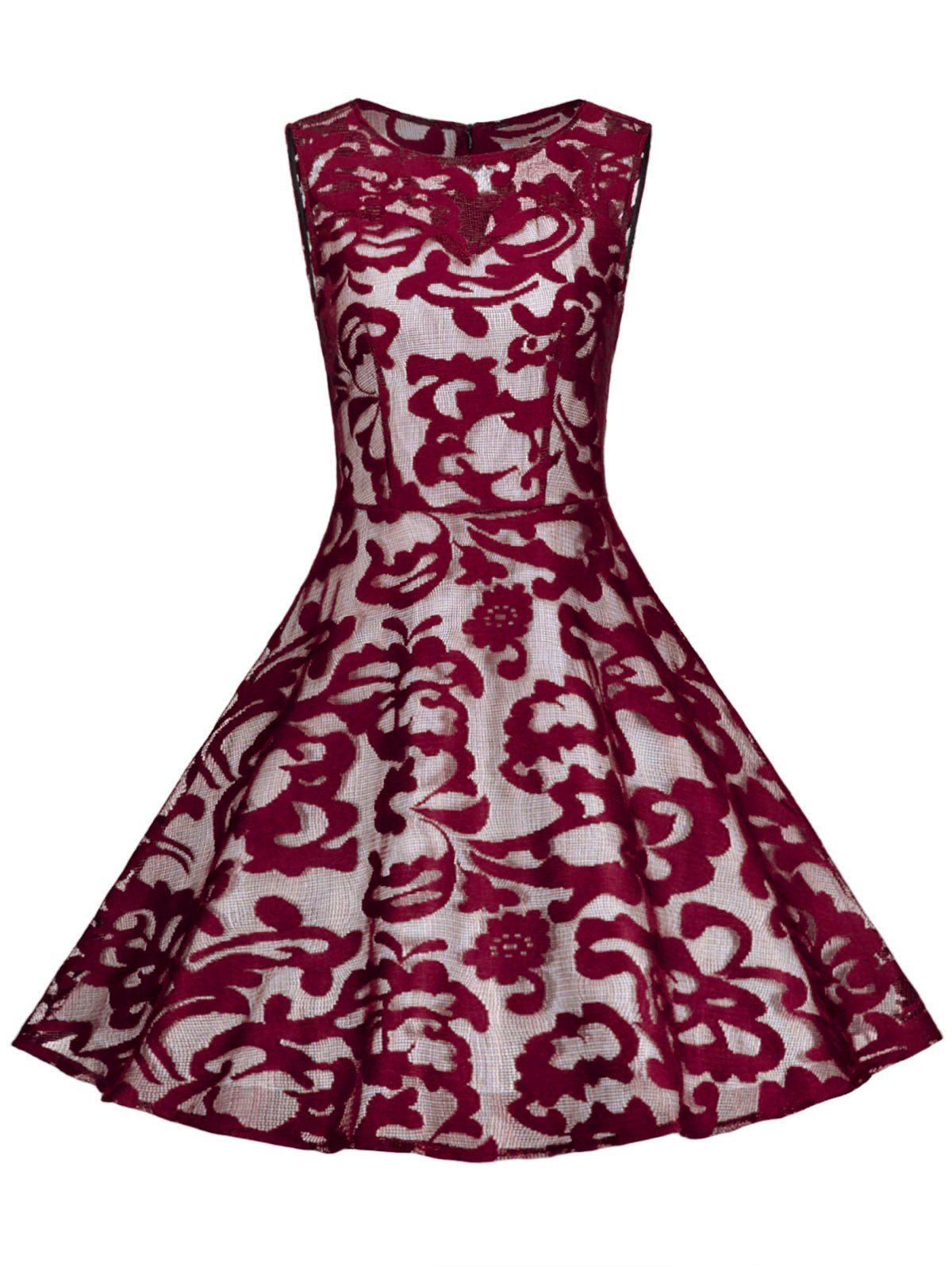 Sheer Vintage Lace Plus Size A Line Dress Věci Které Chci Koupit