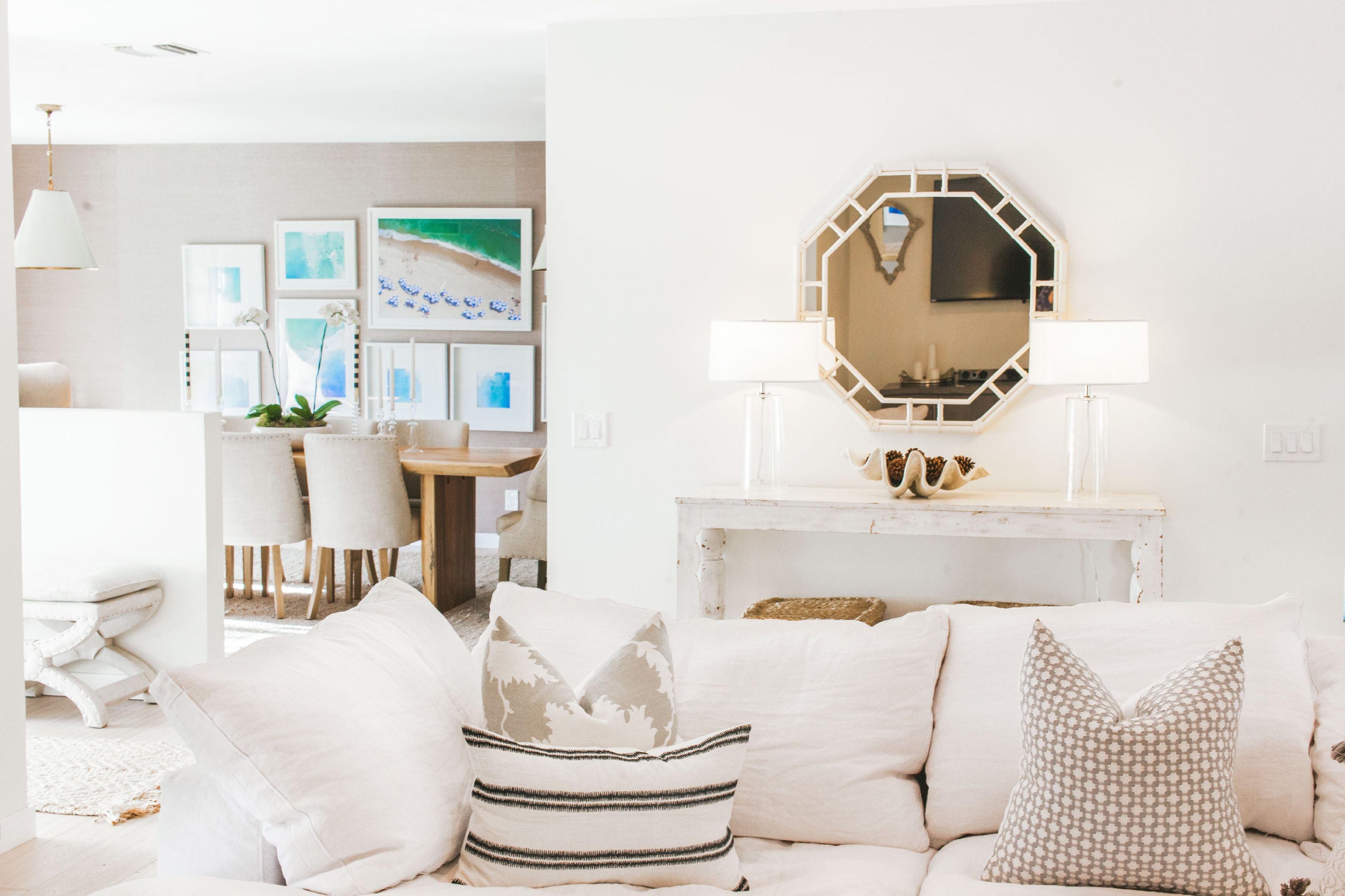 Inspiration Spotlight: Lauren Scruggs Kennedy- airy white living room