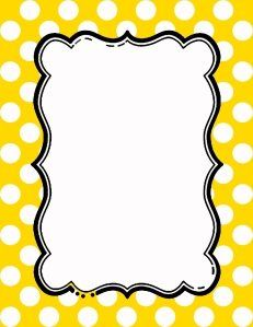 Free Polka Dot Border Templates In 16 Colors Pink Polka Dots