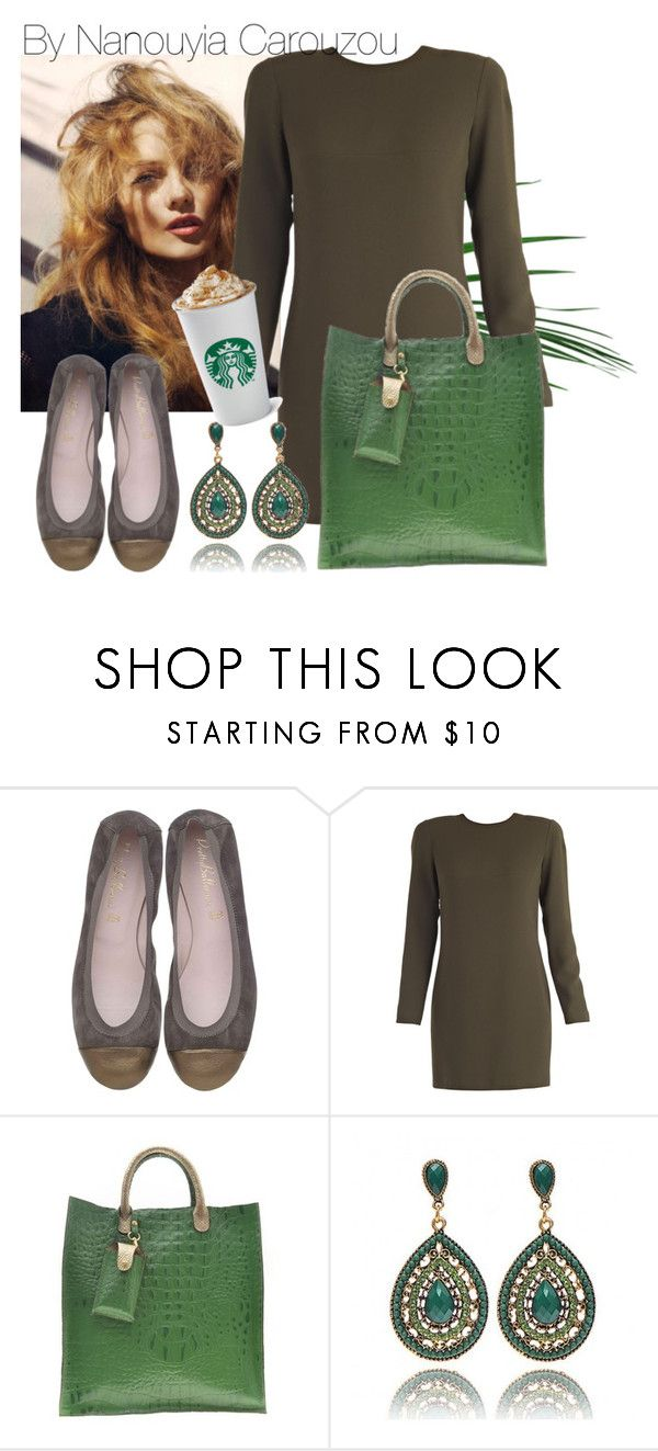 """Green your day..get your coffee and move on"" by nanouyia on Polyvore featuring Dsquared2"