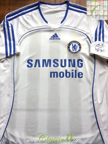 Relive Chelsea s 2006 2007 season with this vintage Adidas away football  shirt. 196513e14