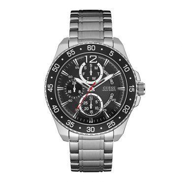 Ανδρικό ρολόι GUESS μαύρο με μπρασελέ W0797G2  f62145acafa