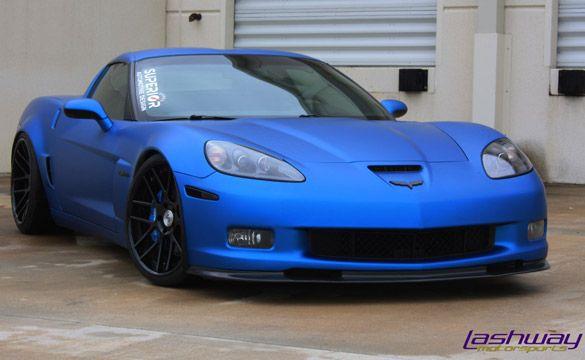 Matte Jetstream Blue Z06 Awesome Rides Corvette Cars Chevrolet
