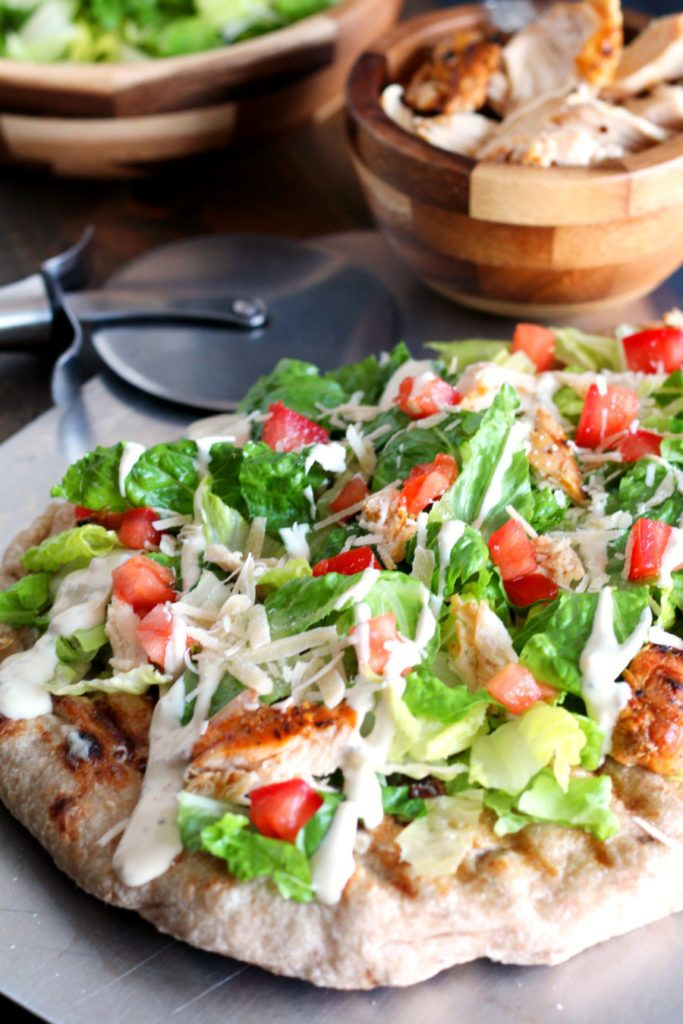 Chicken Caesar Salad Pizza Slice! - Picture of The Naked