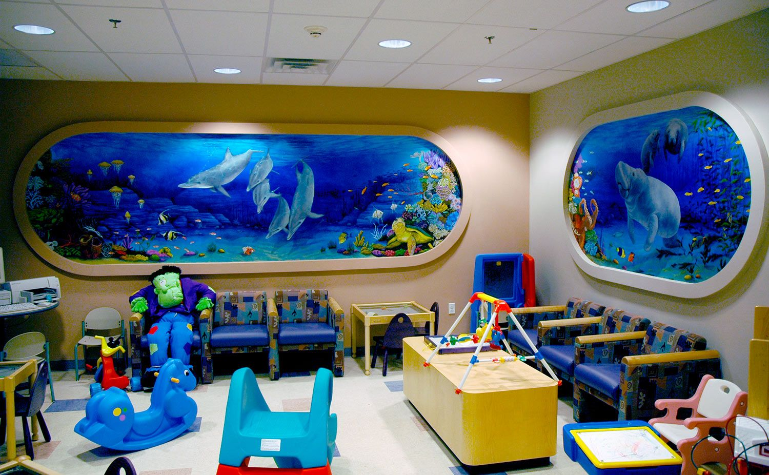 Basement mural idea basement idea pinterest basements for Children wall mural ideas