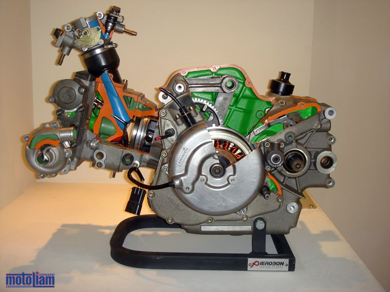 Ducati Supermono Engine Cutaway
