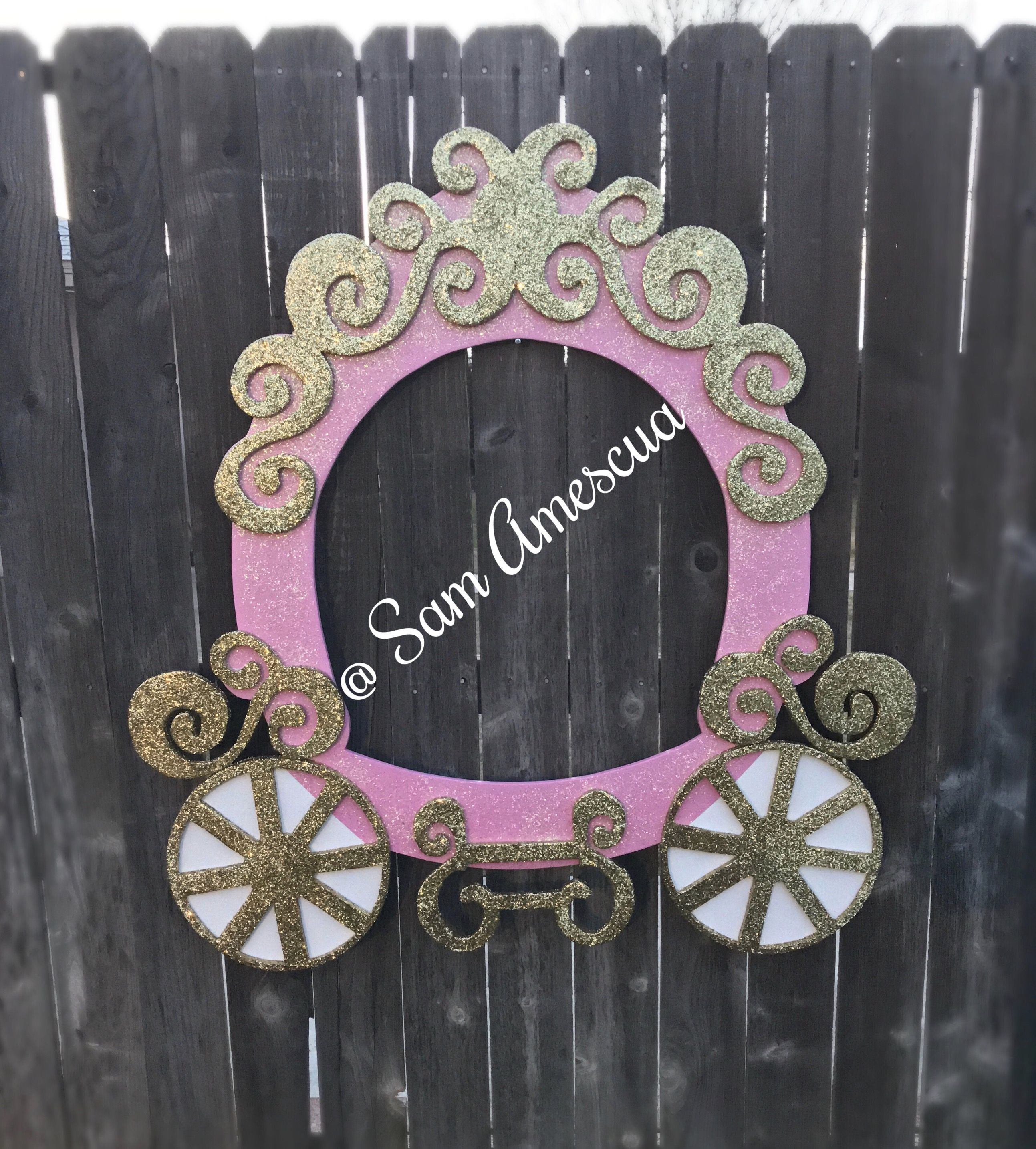 Princess Carriage Princess Party Pink And Gold