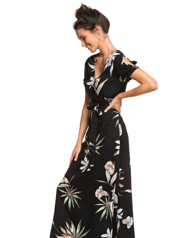 Lotus Heart Short Sleeve Maxi Dress 191274840550 Roxy Maxi Dress With Sleeves Short Sleeve Maxi Dresses Dresses [ 1500 x 1117 Pixel ]