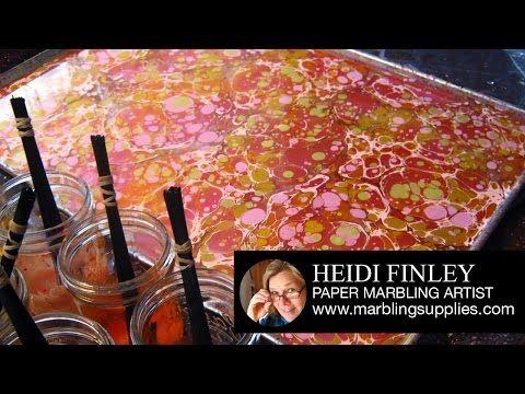 Suminagashi Paper Marbling DIY Japanese Water Marbling ...