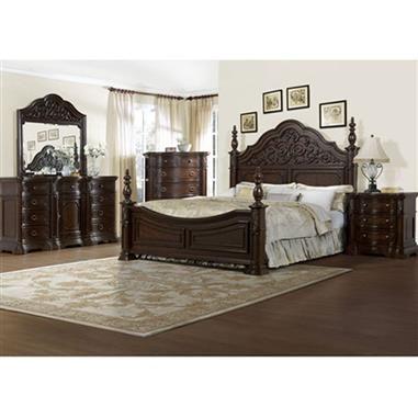 Cassara Dark Brown Drawer Chest Rh 518124 With Images Elegant Bedroom Bed Design Bedroom Set
