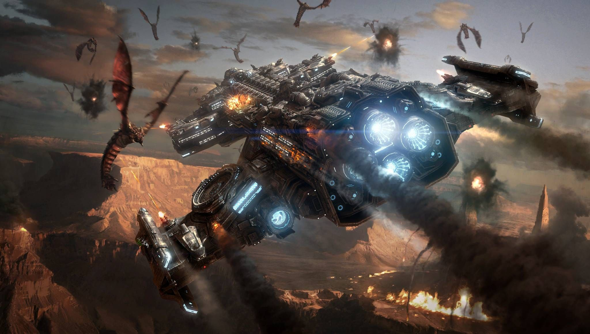 Starcraft 2 Terran HD Desktop Wallpaper : Widescreen