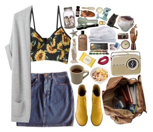"""""""Firework eyes"""" by tarynasaurus ❤ liked on Polyvore featuring American Apparel, Organic by John Patrick, A.P.C., Burt's Bees, philosophy, Three Hands, Geneva, Sheridan, Fountain and Sika"""