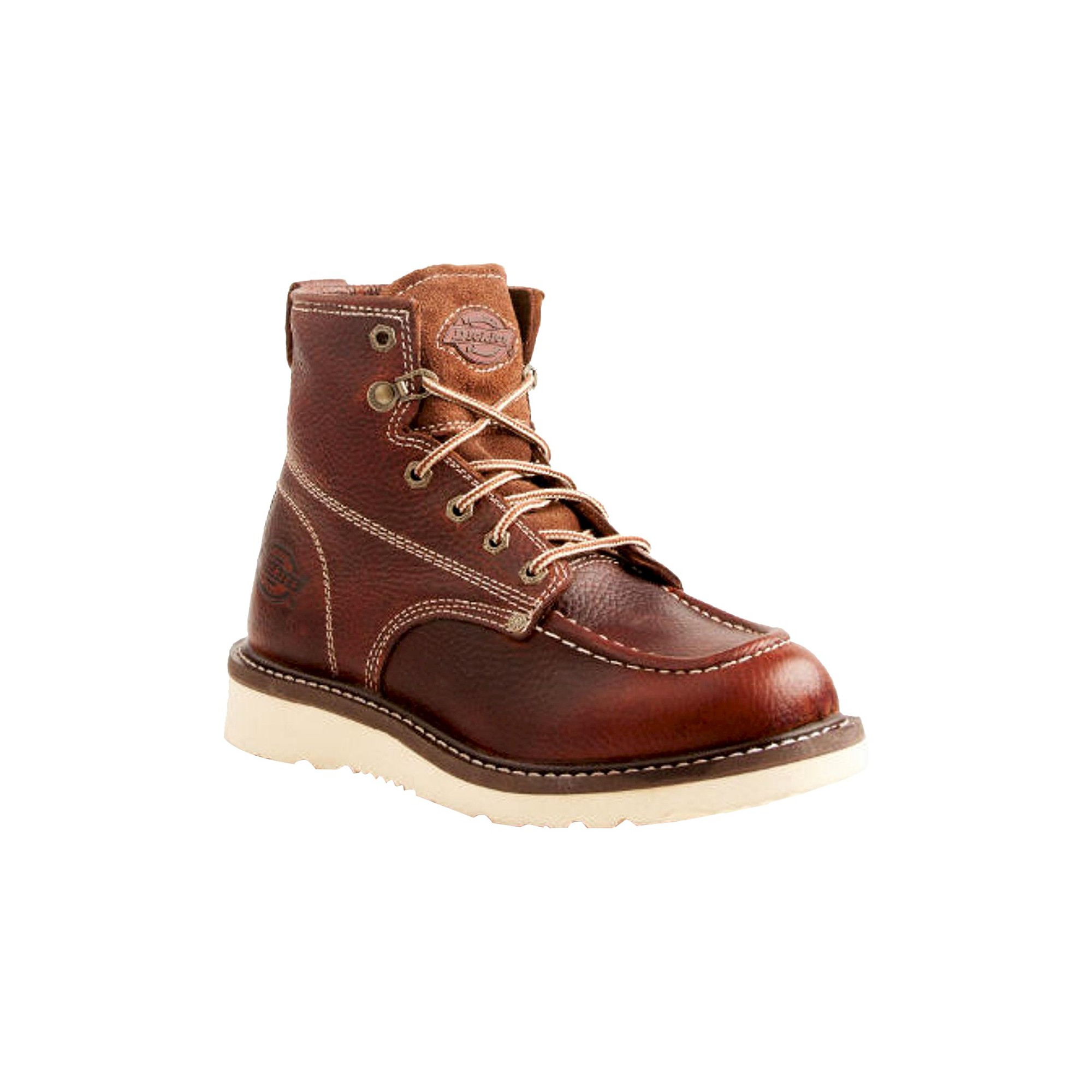 Men's Dickies® Trader Genuine Leather Work Boots Red Oak