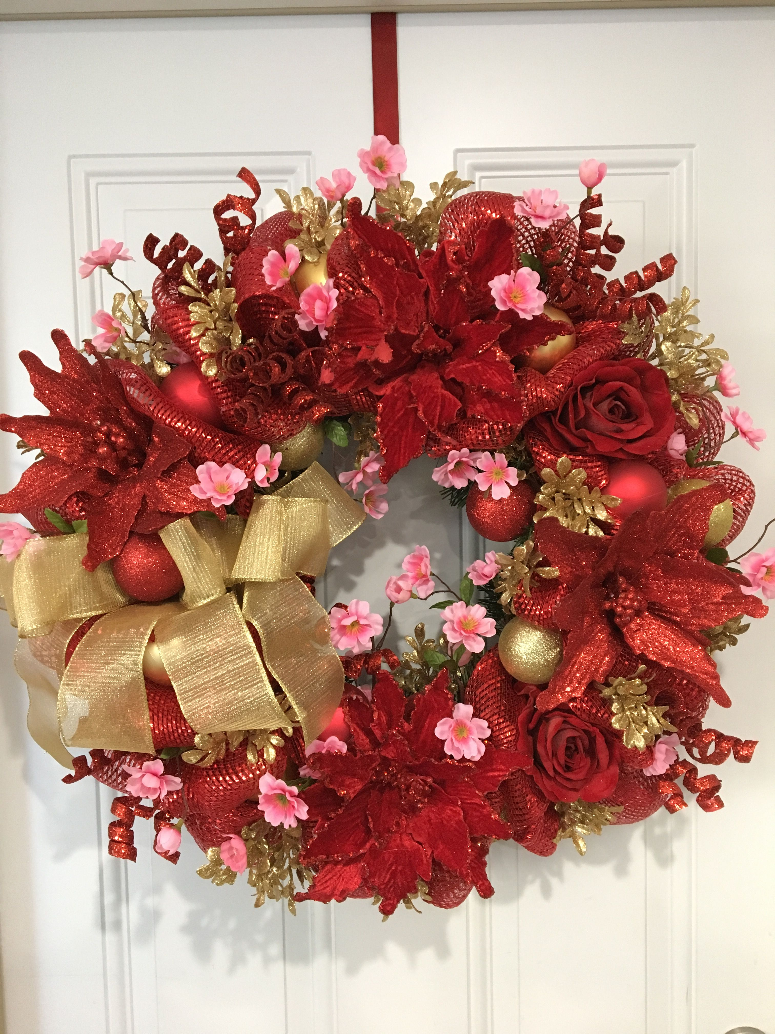 Chinese New Year wreath | Christmas wreaths diy, Asian ...