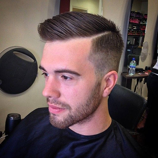 Short Side Part Haircut Parted Mens Hairstyle For Men How To