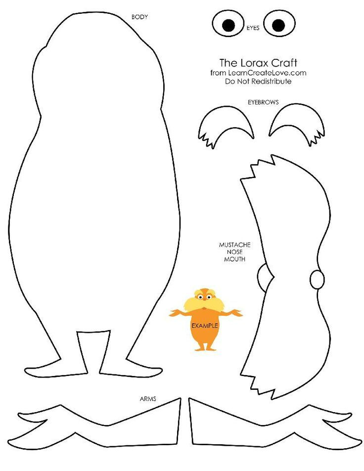 Lorax Coloring Page Seuss Crafts Dr Seuss Crafts