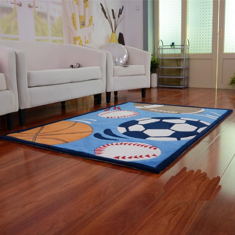Sports Theme Kids E Indoor Area Rug