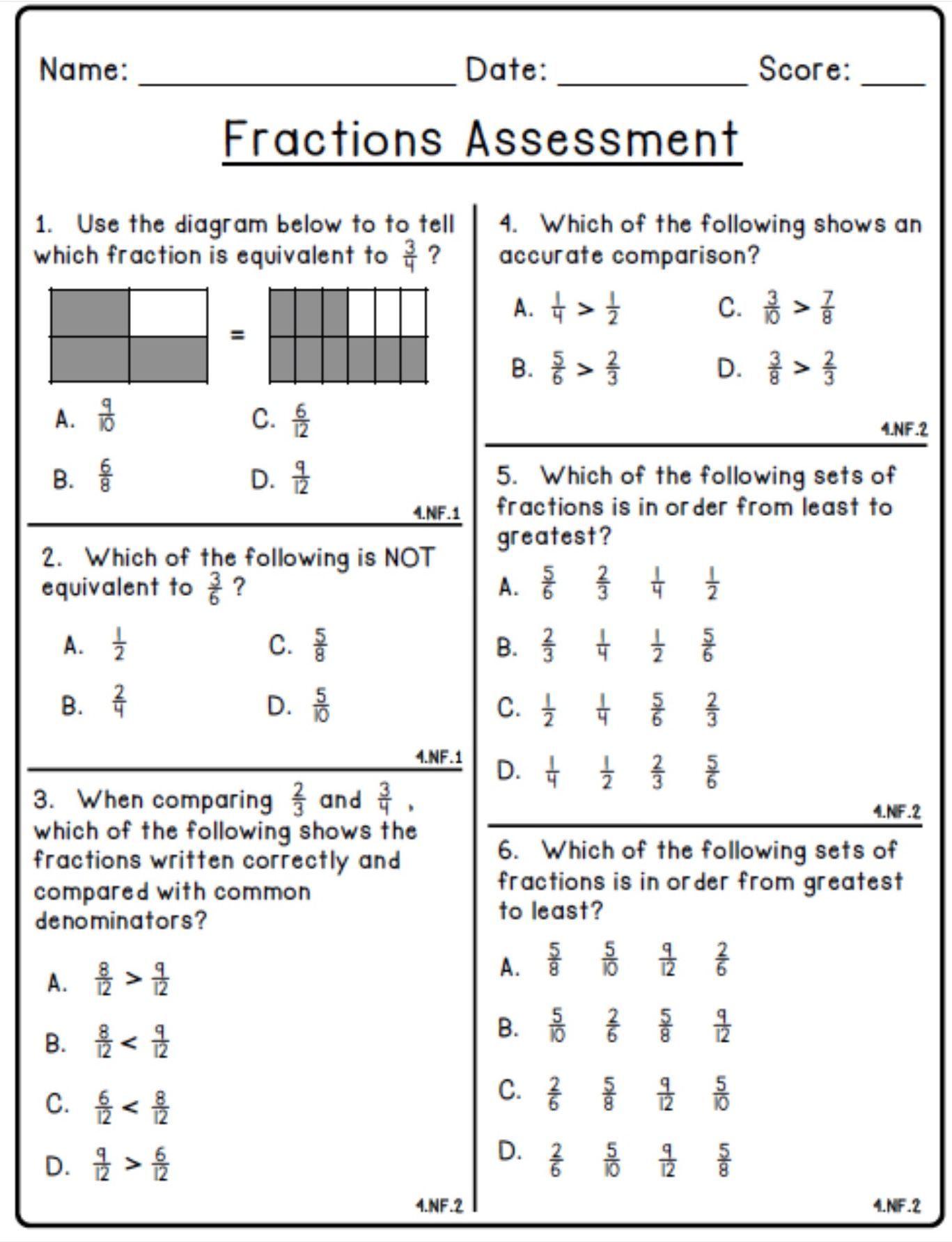 Pin By Saundra Eldridge On Fractions Math Worksheets Math