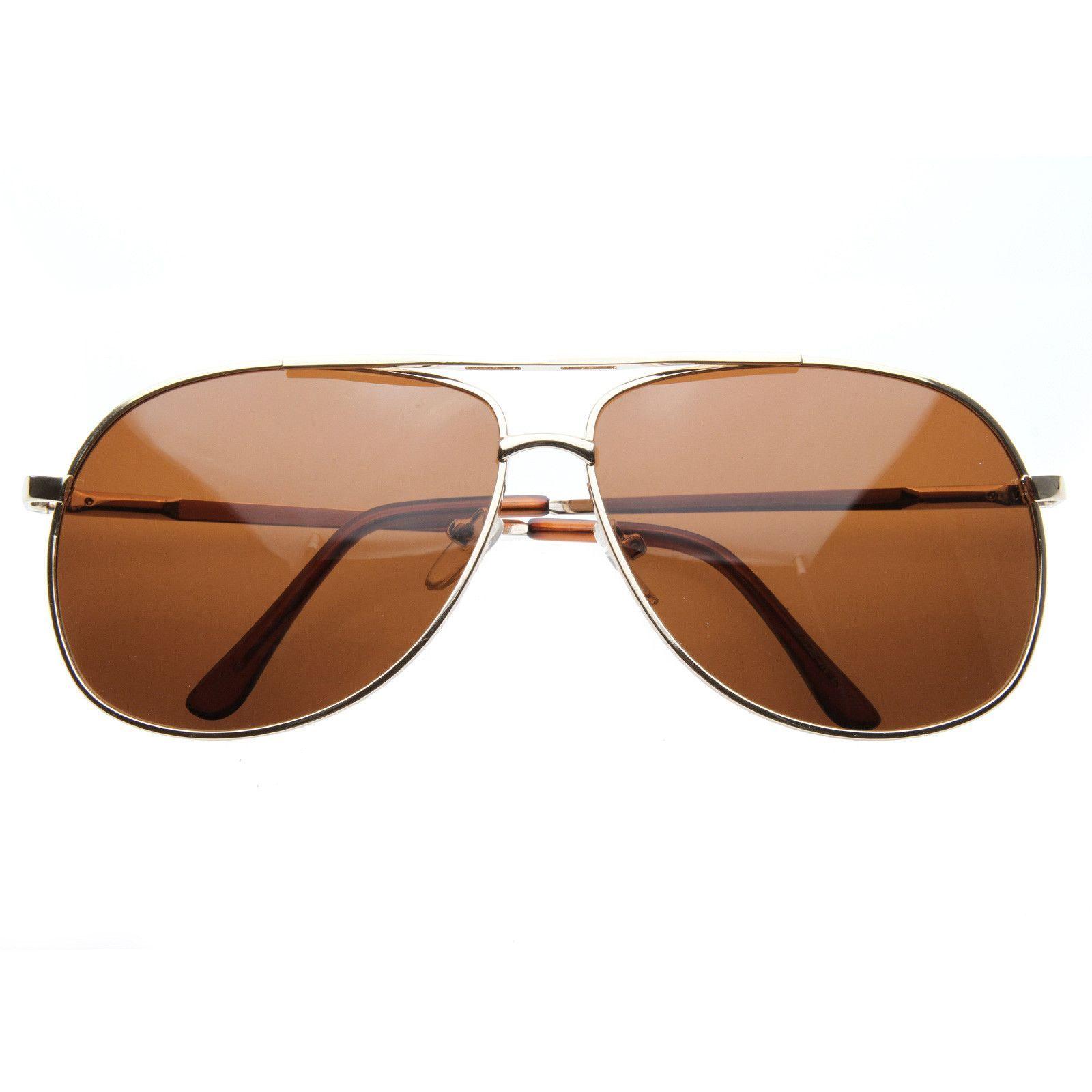 Metal Square Polarized Metal Aviator Sunglasses