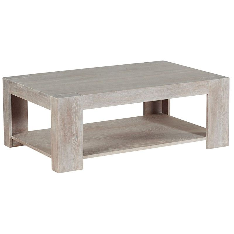 Table Basse Rectangulaire Chene Blanchi 110cm Chicsea Coffee Table Table Furniture