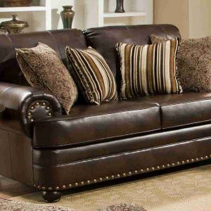 Simmons Bonded Leather Sofa And Loveseat