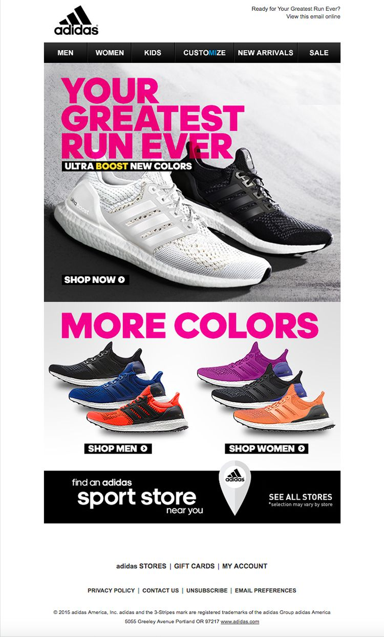 #adidas. #newsletter. #emailers. Bundle of Ideas.