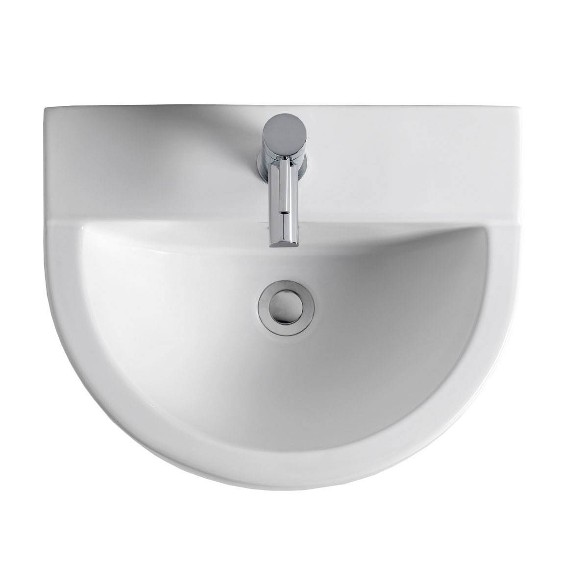 Bathroom sink top view - The Bath Co Camberley 2 Tap Hole Full Pedestal Basin 610mm