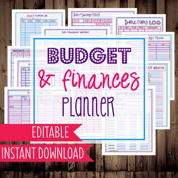 Printable Budget Planner, Budget Printables, 14 Pages Included In