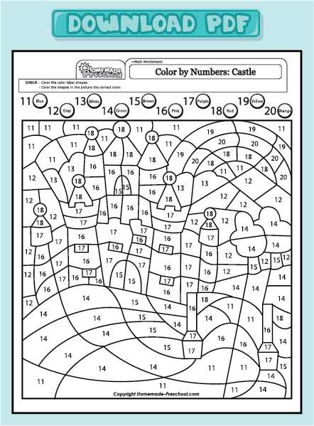 18 Photo Of 19 For Preschool Number Worksheets 11 20 Lugares Que
