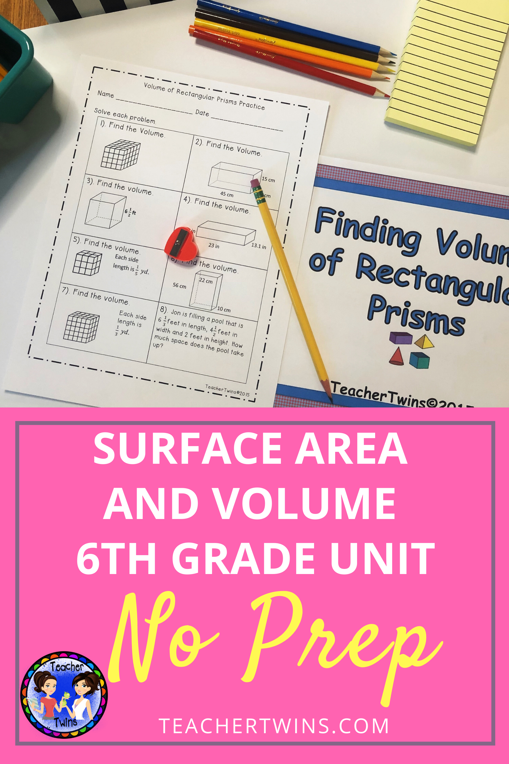 6th Grade Volume And Surface Area Unit Common Core 6 G 2