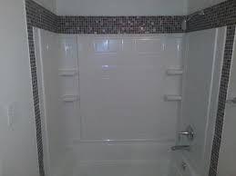 acrylic bath surround and tile border - google search