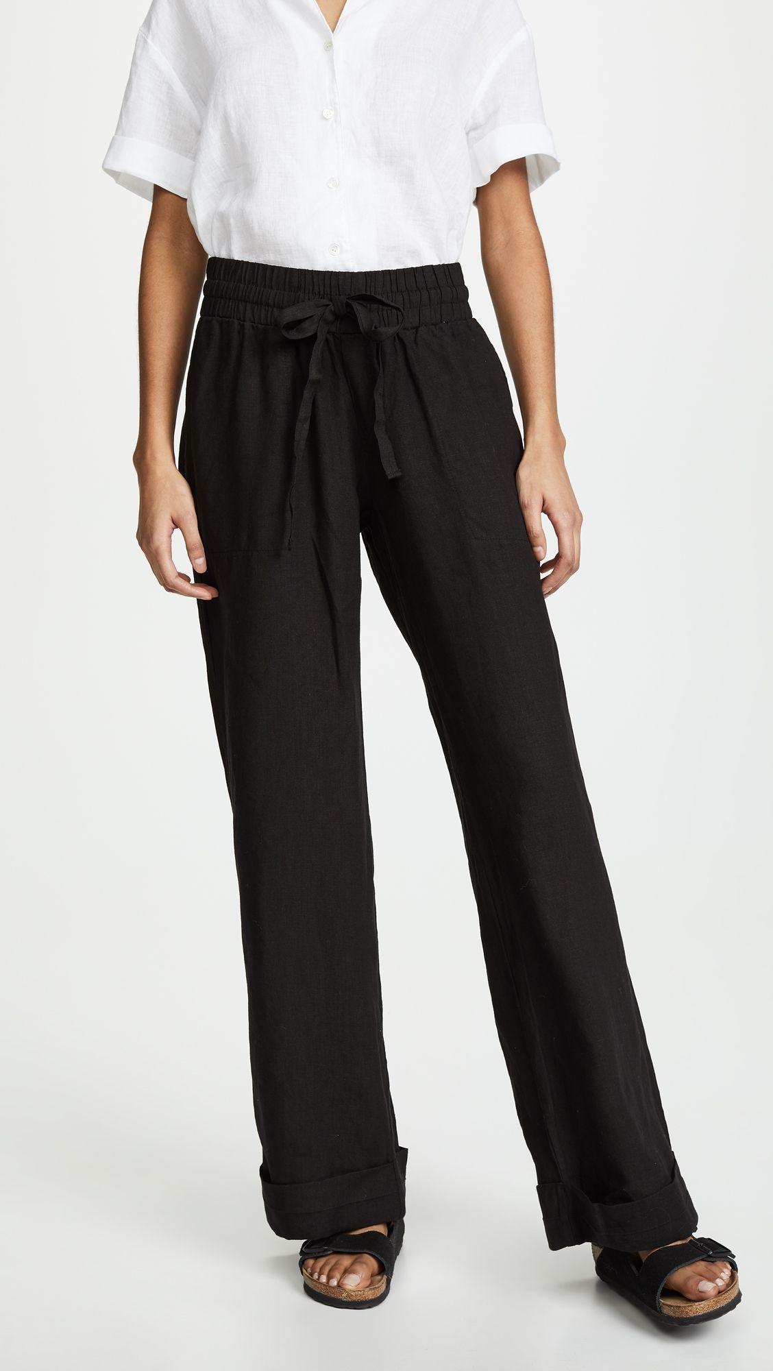 dc4bfc1df7 Cuffed Linen Beach Pants in 2019   Products   Linen beach pants ...
