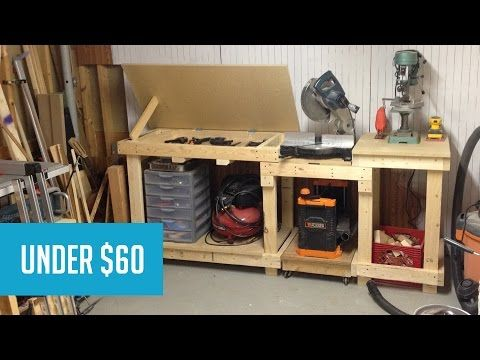 Simple time lapse video of the process of how I create a workbench station built around a miter saw. The bench went together pretty quickly with almost no wa...