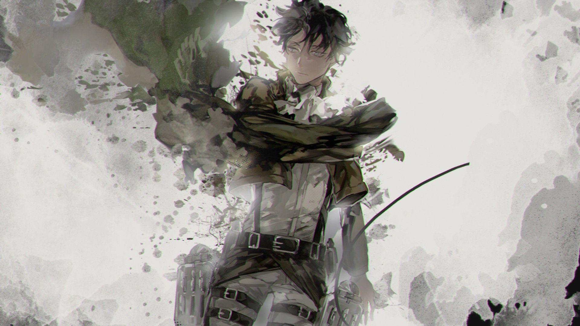 Pin By Evelyn Ackerman On Levi Ackerman Snk Anime Guys Shirtless Levi Ackerman Attack On Titan