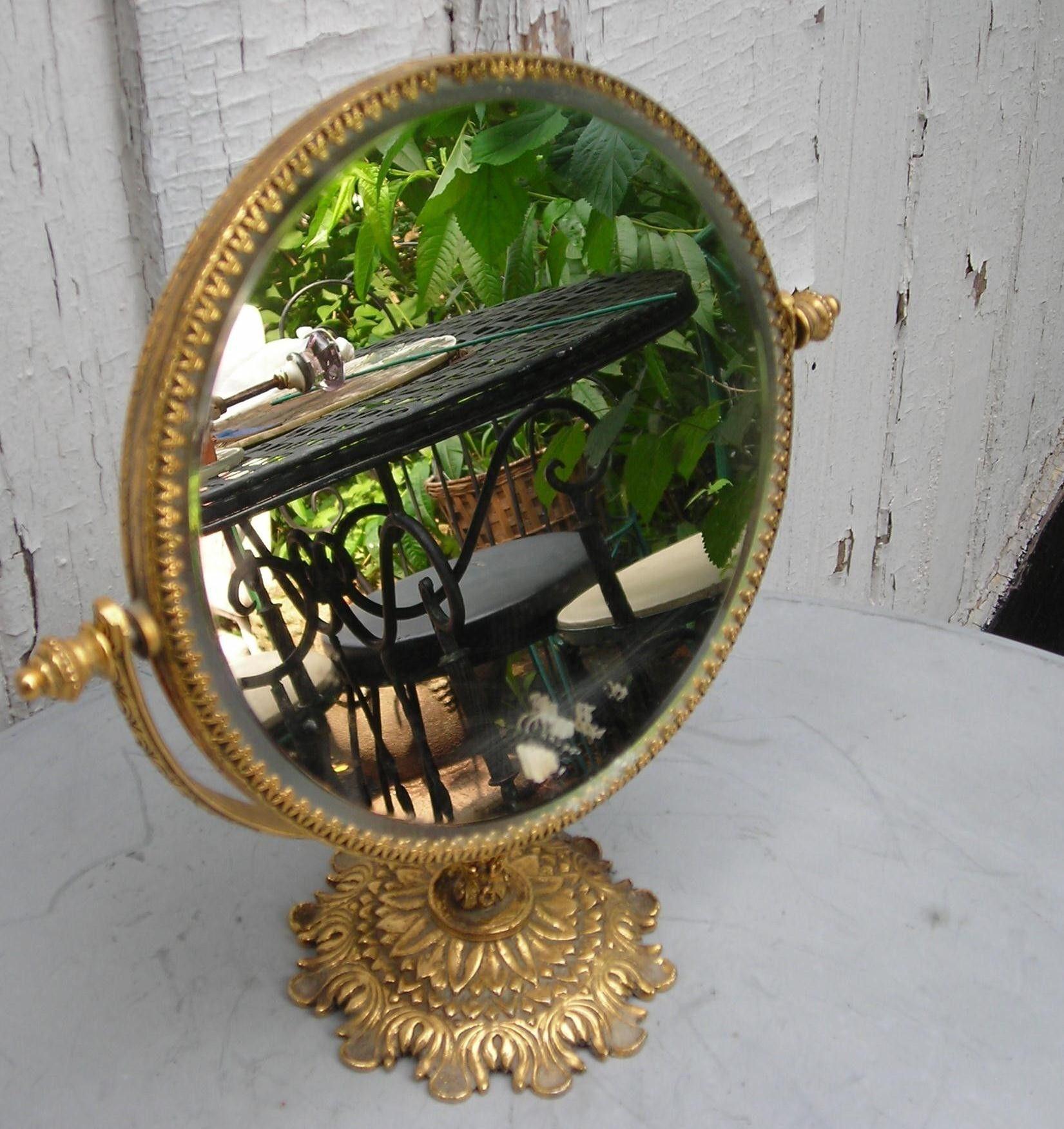 Vintage vanity mirror gold ornate side mirror vintage vanity