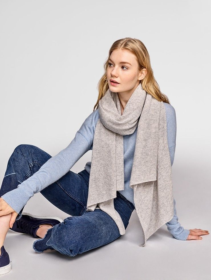 ec87608479 white and warren-- best travel wraps Color  MISTY GREY HEATHER The Cashmere Travel  Wrap has been a White + Warren bestseller for over 20 years (for good ...